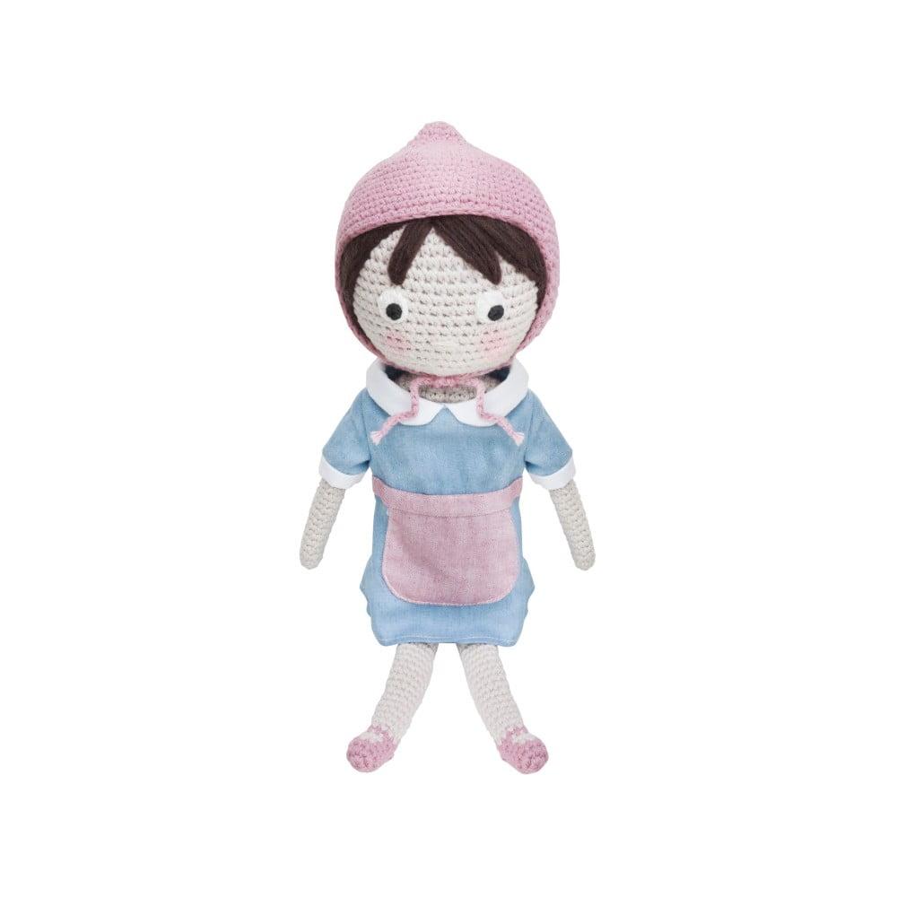 Pletená dětská panenka Sebra Crochet Doll Farm Jenny