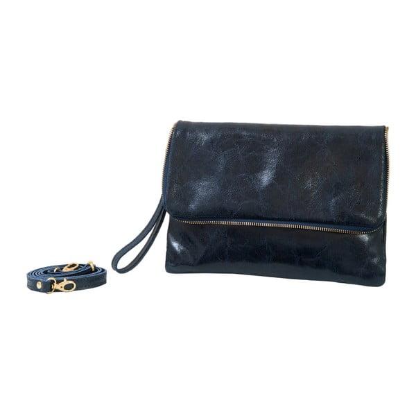 Tmavě modrá kabelka z pravé kůže Andrea Cardone Marco