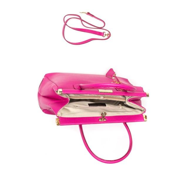 Kožená kabelka Renata Corsi 1012 Fuchsia