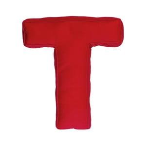 Látkový polštář T, červený