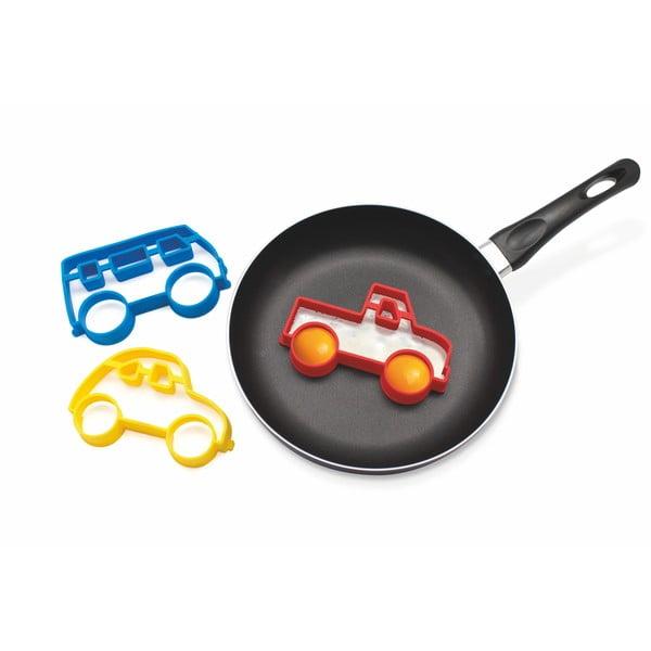 Formă pentru ouă în model de mașină Luckies of London Eggmobile, galben