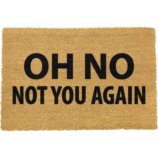 Covoraș intrare din fibre de cocos Artsy Doormats Not You Again, 40 x 60 cm