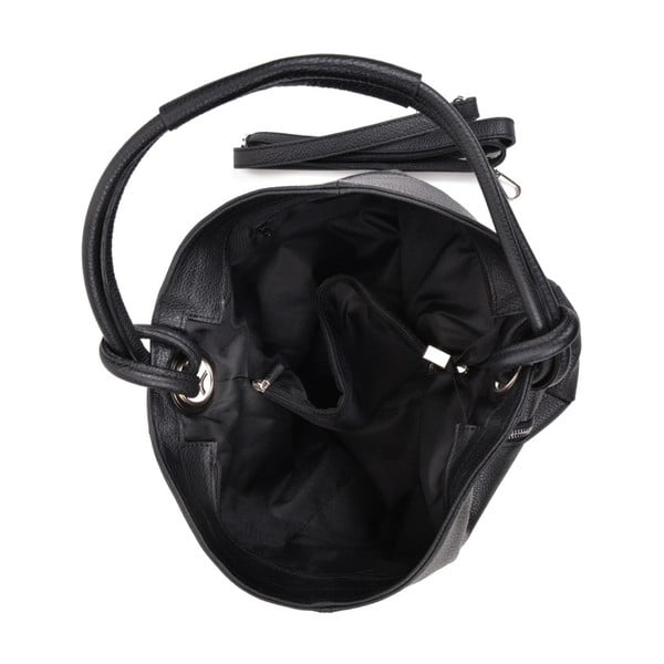 Černá kožená kabelka Anna Luchini Smiela