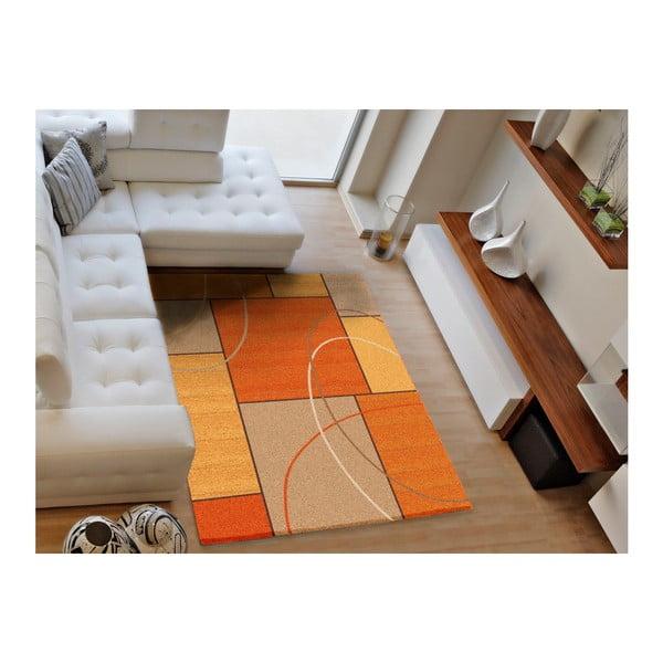 Oranžový koberec Universal Delta, 160 x 230 cm
