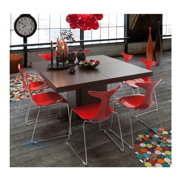 Tmavě hnědý jídelní stůl TemaHome Dusk, 150 x 150 cm