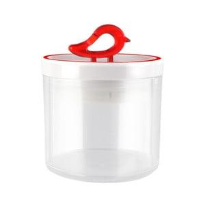 Červená dóza Vialli Design Livio, 0,4 l