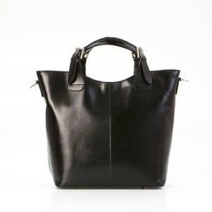Černá kožená kabelka Pia Sassi Naples