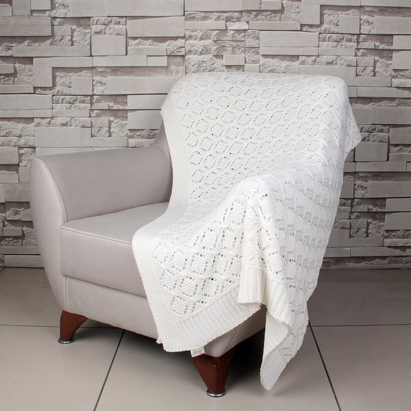 Krémová bavlněná deka Ciana