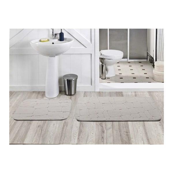 Sada 2 koupelnových koberečků Dekoreko Beyaz, 50x60 cm + 60x100 cm