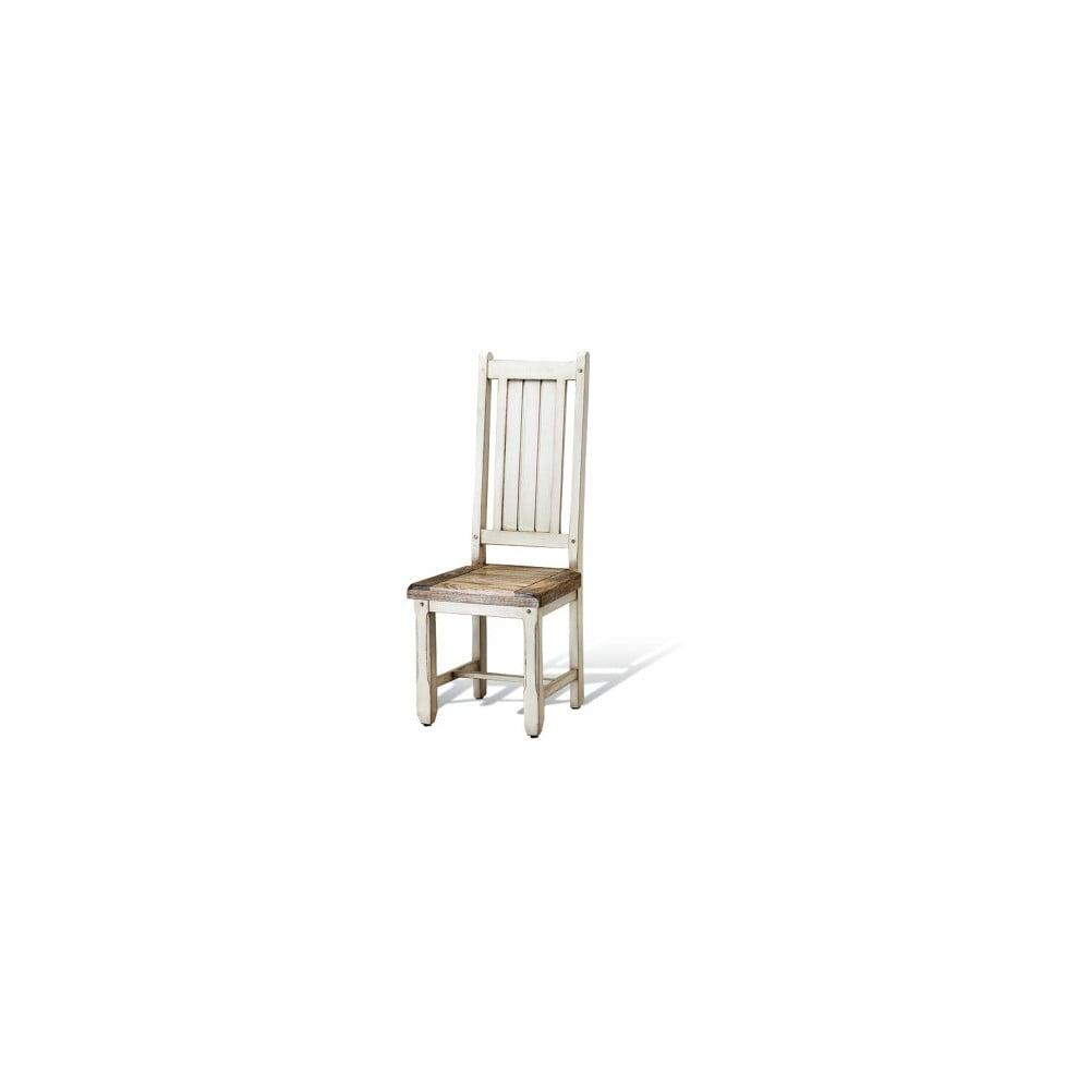 Bílá jídelní židle z mangového dřeva Massive Home Patna