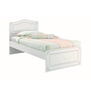 Bílá jednolůžková postel Selena Bed, 100 x 200 cm