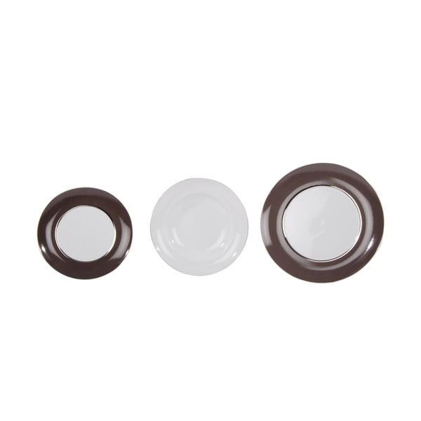 Sada 18 porcelánových talířů Ramponi Caffe Gray