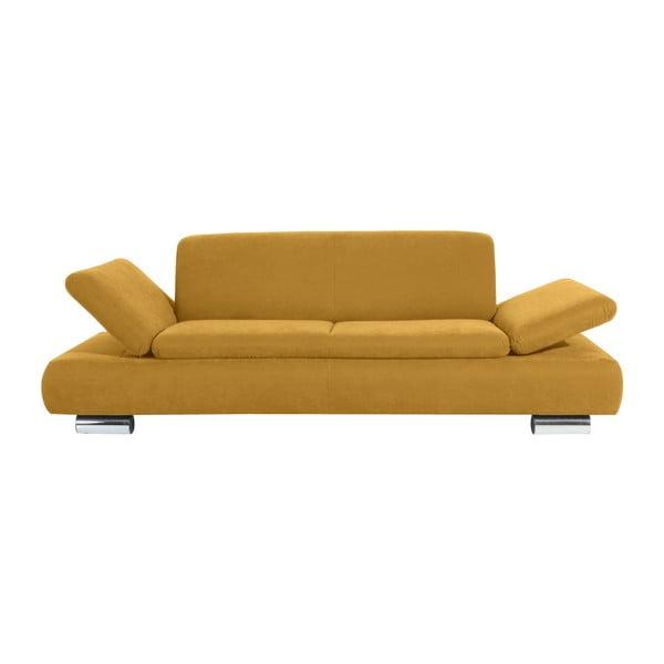 Canapea cu 3 locuri Max Winzer Terrence Anderson, cotiere ajustabile, galben