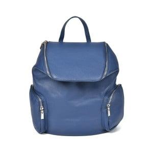 Modrý kožený batoh Luisa Vannini Amedea
