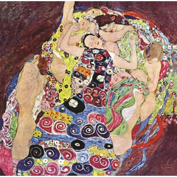 Gustav Klimt - obraz The Virgins, 80x80 cm