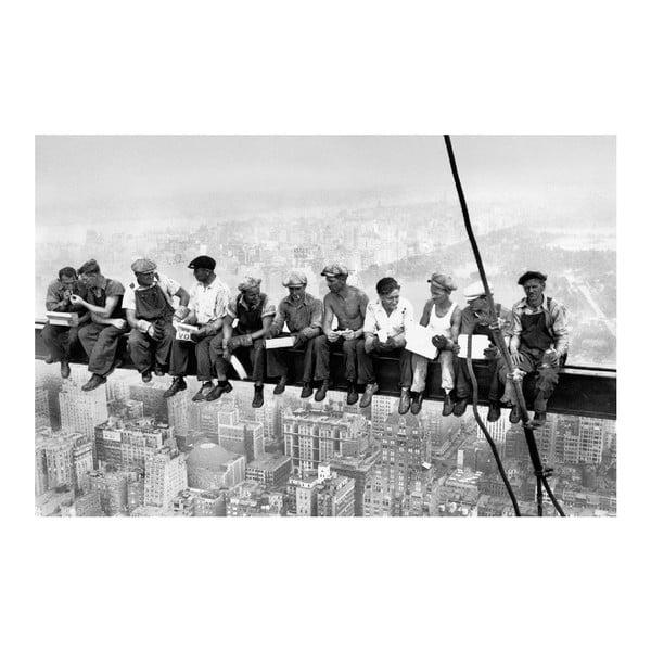 Maxi plakát Eating Above Manhattan, 175x115 cm