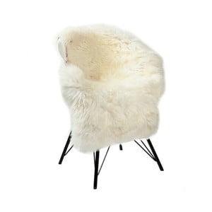 Bílá dekorativní ovčí kůže Woooly