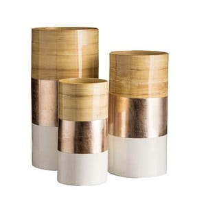 Sada 3 váz Ixia Bamboo Champagne