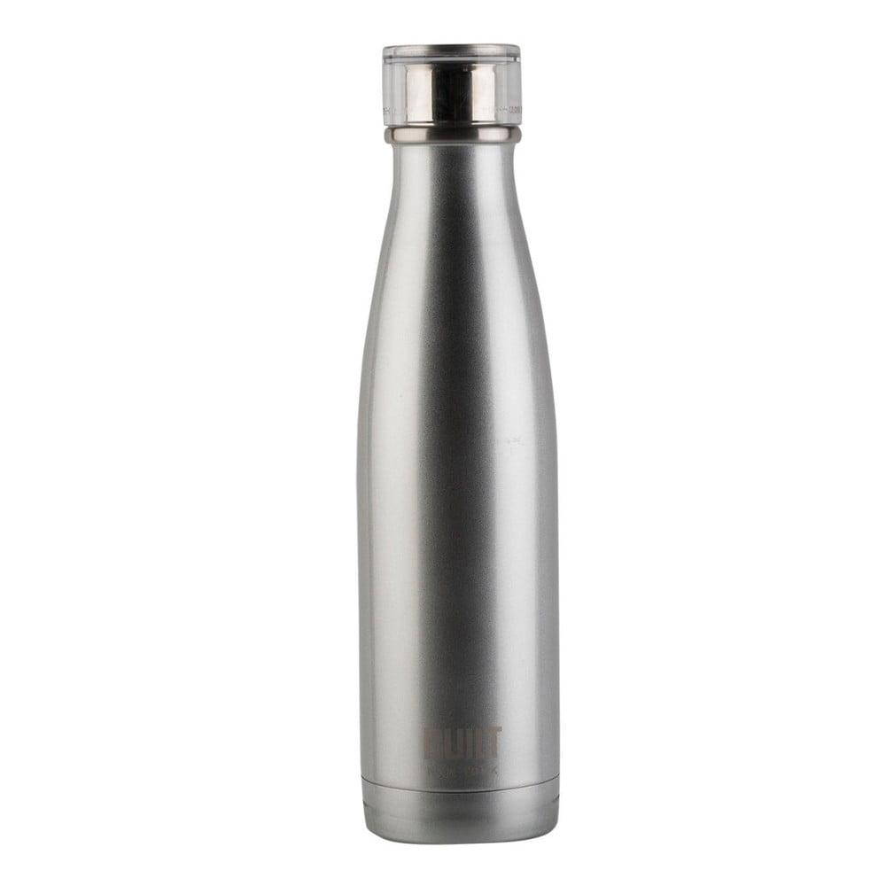 Šedá termo lahev z nerezové oceli Creative Tops Built,483ml