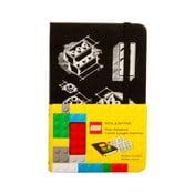 Notebook Moleskine Lego Black, hârtie albă