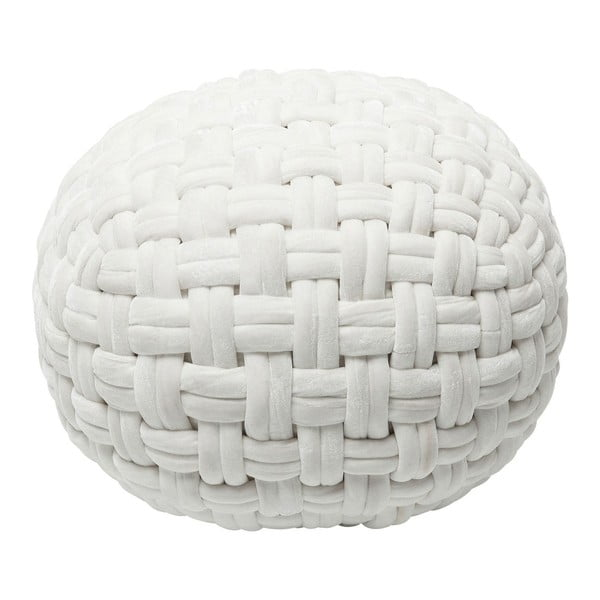Bílý puf Kare Design Olivio, ⌀50cm