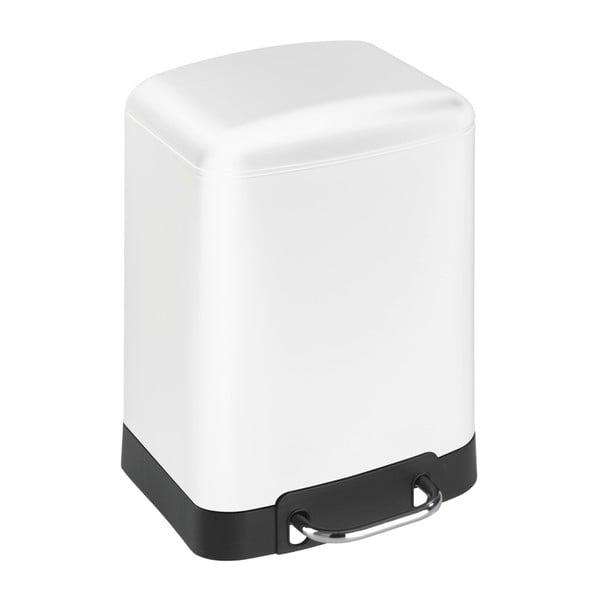 Coș de gunoi cu pedală Wenko Studio, 6 l, alb