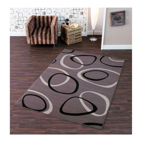 Šedý koberec Hanse Home Prime Pile Rings Grey, 80x300cm