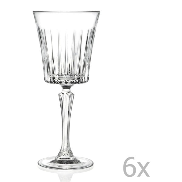 Sada 6 pohárov na sekt RCR Cristalleria Italiana Coco, 300 ml