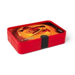 Červený úložný box s přihrádkami LEGO® Ninjago