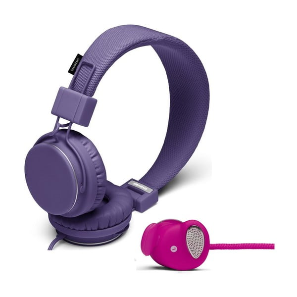 Sluchátka Plattan Lilac + sluchátka Medis Raspberry ZDARMA