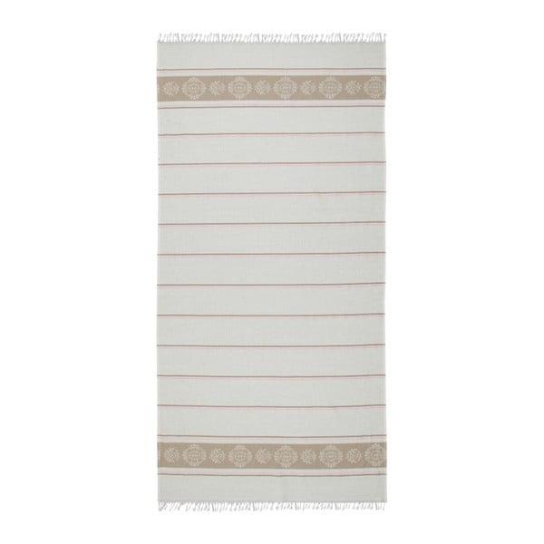 Světle hnědobéžová hammam osuška Deco Bianca Loincloth Beige Stripe, 80x170cm