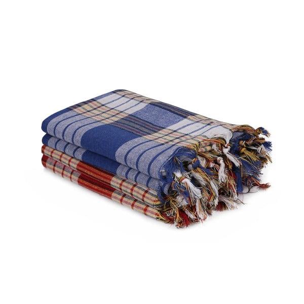 Sada 4 barevných ručníků, 180 x 80 cm