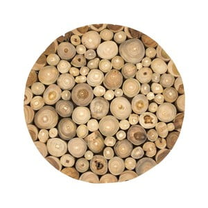 Nástěnný obraz z teakového dřeva Moycor Spheres, ⌀ 40 cm