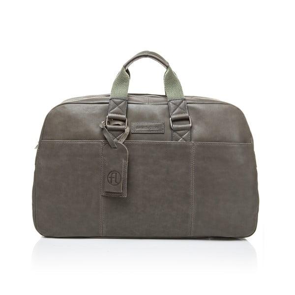 Ciemnozielona torba podróżna ze skóry cielęcej Ferruccio Laconi Traveler