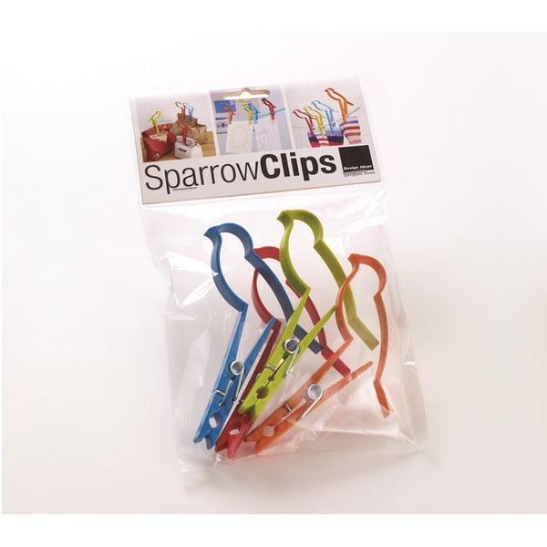 Sada 4 kancelářských sponek Design Ideas Sparrow Clips