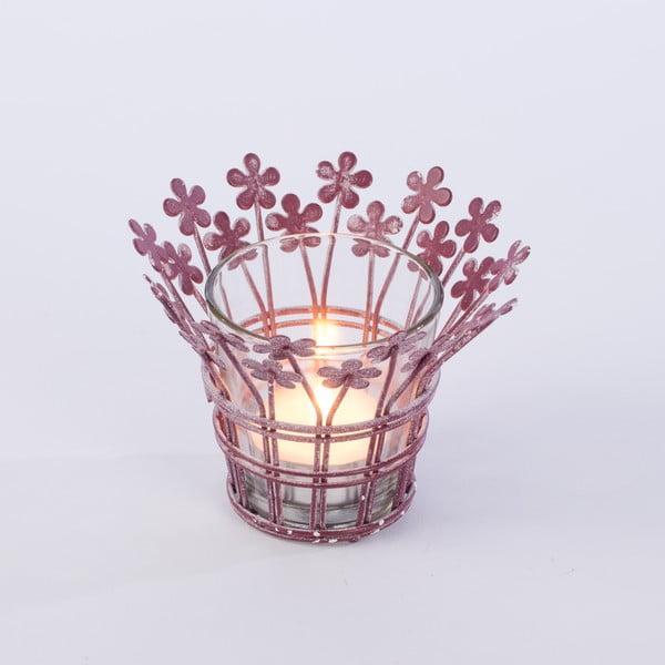 Svícen Votive 12 cm, fialový