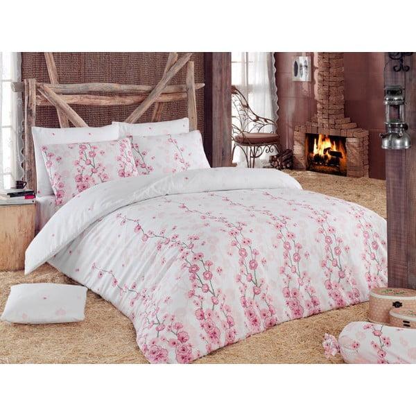 Povlečení s prostěradlem Coretta Light Pink, 200x220 cm