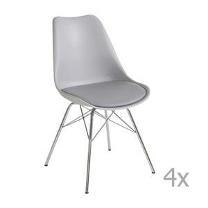 Sada 4 šedých jídelních židlí Støraa Jenny