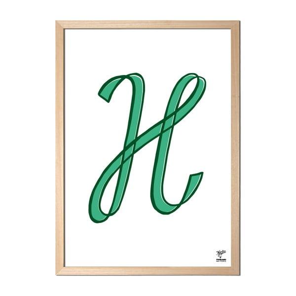 Plakát H od Karolíny Strykové