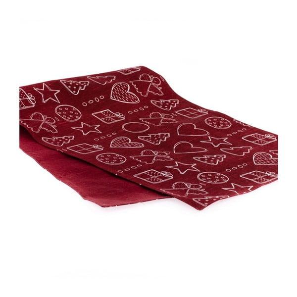 Czerwony bieżnik Dakls, 40x120 cm