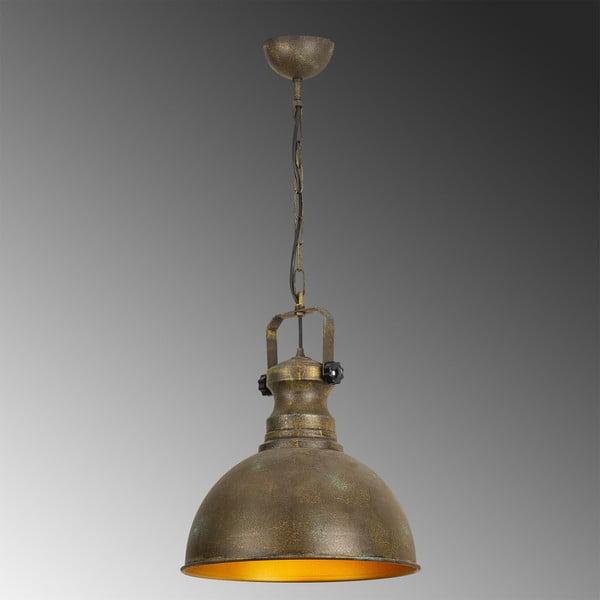Kovové závěsné svítidlo v antické zlaté barvě Opviqlights Orion