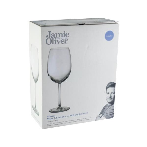 Sada 2 sklenic na víno Jamie Oliver Waves, 580 ml