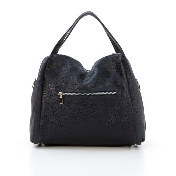 Kožená kabelka Riccardo, tmavě modrá