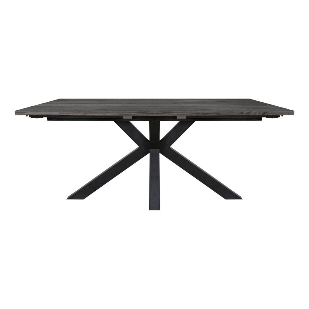 Šedý jídelní stůl s černýma nohama Canett Maison, 100x180cm