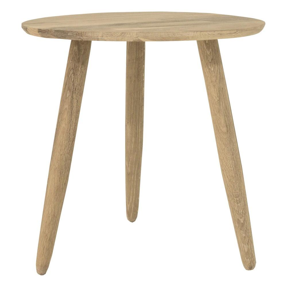 Odkládací stolek z dubového dřeva Canett Uno, ø 40 cm