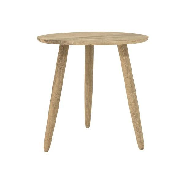 Stolik z drewna dębowego Canett Uno, ø 40 cm