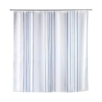 Perdea de duș Wenko Line Blue, 180 x 200 cm imagine