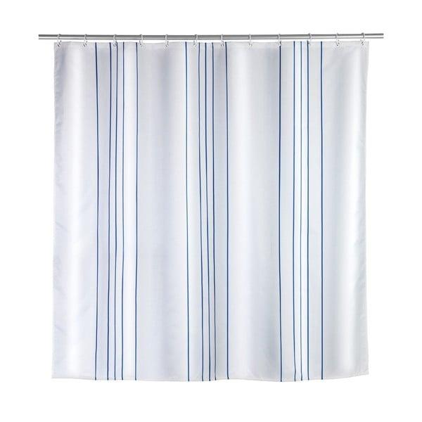 Perdea de duș Wenko Line Blue, 180 x 200 cm
