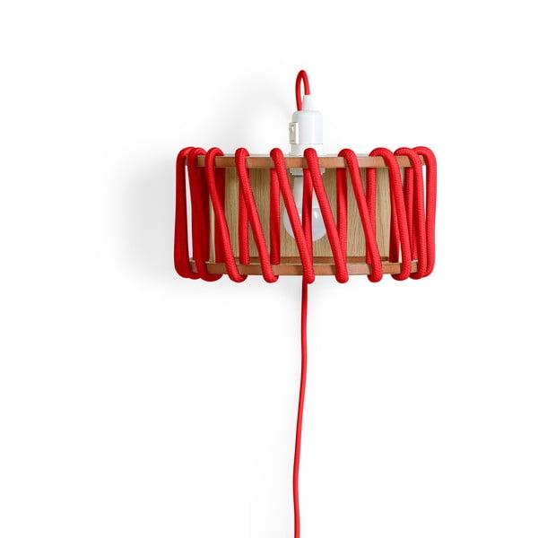 Aplică din lemn EMKO Macaron, lungime 30 cm, roșu
