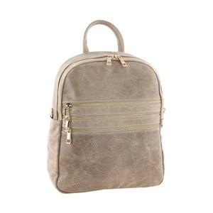 Béžový kožený batoh Tina Panicucci Tera